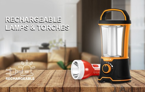 RECHARGEABLE LAMPS & TOUCHES